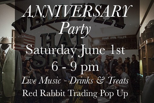 SAVE THE DATE! Feeling extremely blessed to be celebrating 6 years of making & 3 years in Los Angeles county. @redrabbittrading will be in store all day through the evening with goods to shop. We'll have live music from the one & only Smitty on Steel. Ice creams from CK Farnsworth & more. Be sure to pencil it in and make some memories with us #wellemahats
